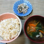 【若玄米リセットプログラム 2日目】 若玄米と具沢山味噌汁を食べて、脱低体温!!